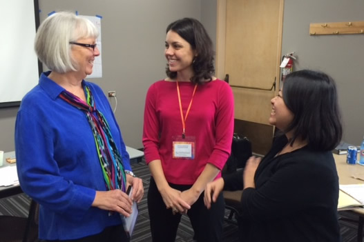 Denise Ernst, Ph.D. with workshop participants